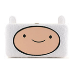 ADVENTURE TIME Finn Furry Big Face Girl Hinge Purse Wallet, White