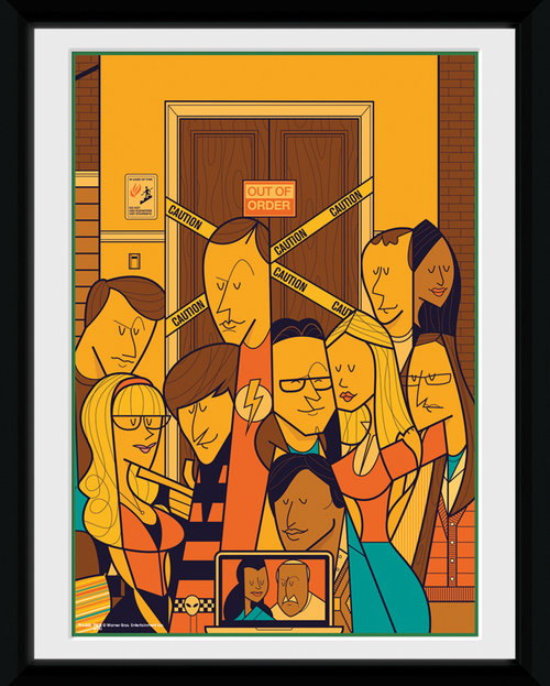 Big Bang Theory Group Framed Collector Print