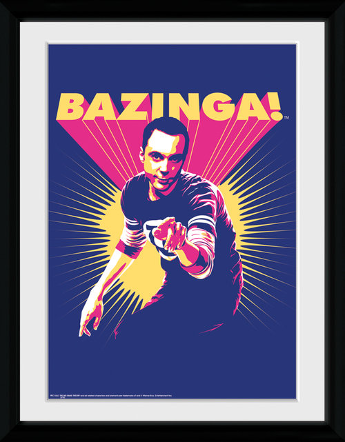 Big Bang Theory Bazinga Framed Collector Print