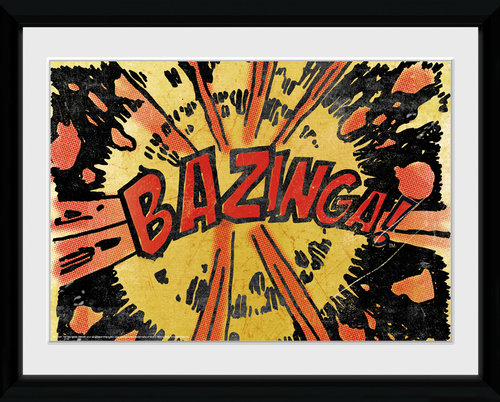 Big Bang Theory Bazinga Comic Framed Collector Print