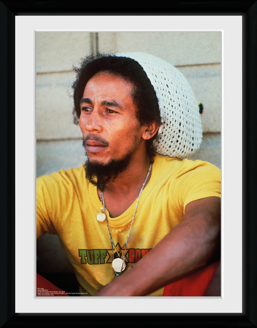 Bob Marley Yellow Framed Collector Print