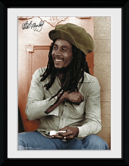 Bob Marley Rolling Framed Collector Print