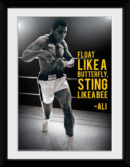 Muhammad Ali Sting Like A Bee Framed Collector Print