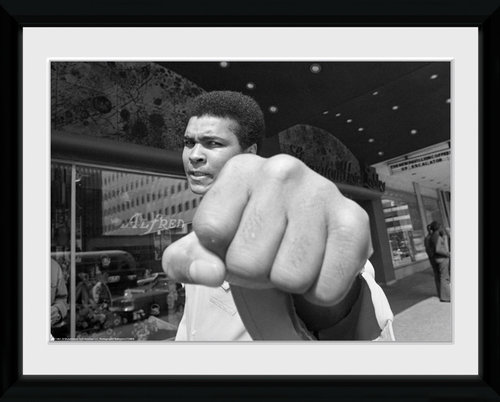 Muhammad Ali Fist Framed Collector Print