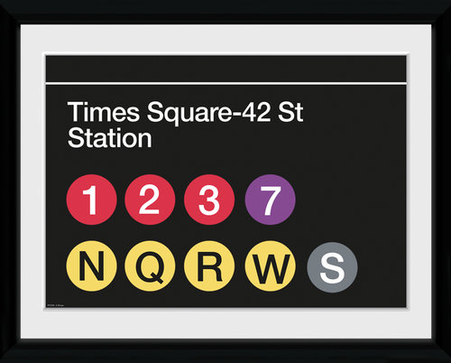 New York Subway Times Square Framed Collector Print
