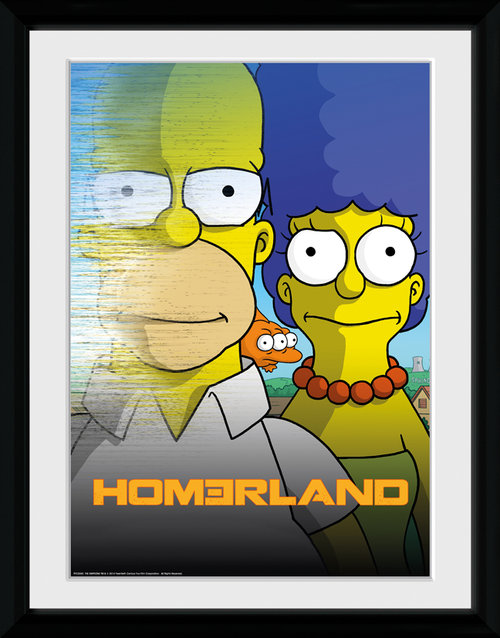 The Simpsons Homerland Framed Collector Print