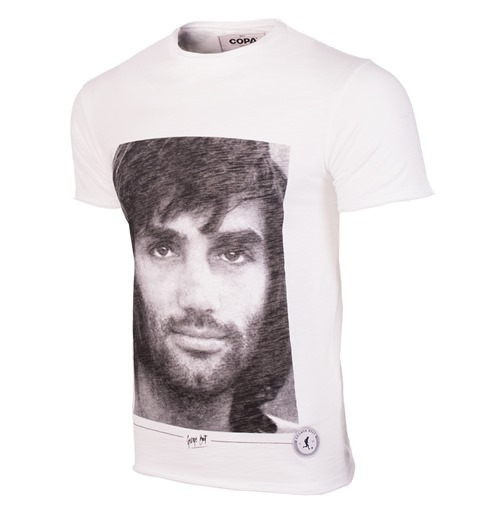 George Best Portrait T-Shirt // White 100% cotton