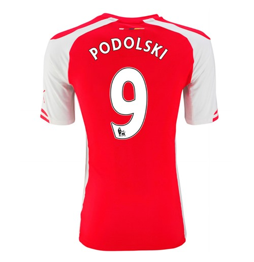 2014-15 Arsenal Home Shirt (Podolski 9) - Kids