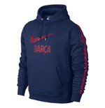2014-2015 Barcelona Nike Core Hooded Top (Navy)