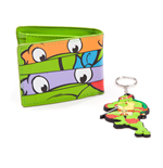TEENAGE MUTANT NINJA TURTLES (TMNT) Masks Bi-fold Wallet & Raph Keychain Giftset, Green