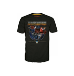 TRANSFORMERS Fall of Cybertron Optimus Space Small T-Shirt, Black