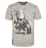 TRANSFORMERS Fall of Cybertron Grimlock Small T-Shirt, Grey