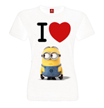 Despicable Me 2 Ladies T-Shirt I Love Minions