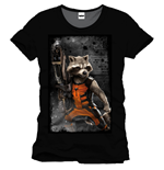 Guardians of the Galaxy T-Shirt Raccon Machine Gun