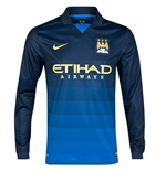 2014-2015 Man City Away Nike Long Sleeve Shirt