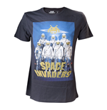 SPACE INVADERS Alien Astronauts Men's Large T-Shirt, Charcoal