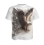 SPIRAL Wings Of Freedom T-Shirt, Short Sleeve, Adult Male, Small, White
