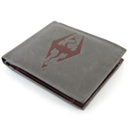 THE ELDER SCROLLS Skyrim Dragonborn Faux Leather Wallet, Grey/Red