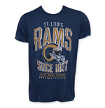 Junk Food Navy Blue ST. LOUIS RAMS 1961 NFL T-Shirt