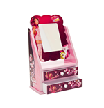 Mia and Me wooden jewellery box with mirror, gift wrapped, 19,5x11x30 cm