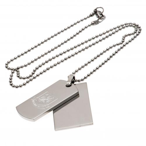 West Ham United F.C. Double Dog Tag & Chain
