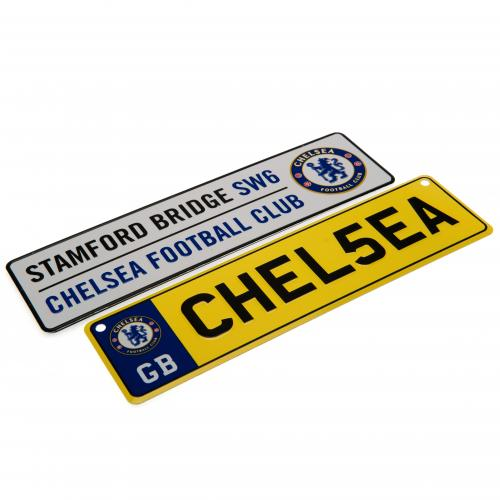 Chelsea F.C. Window & Fridge Sign Set
