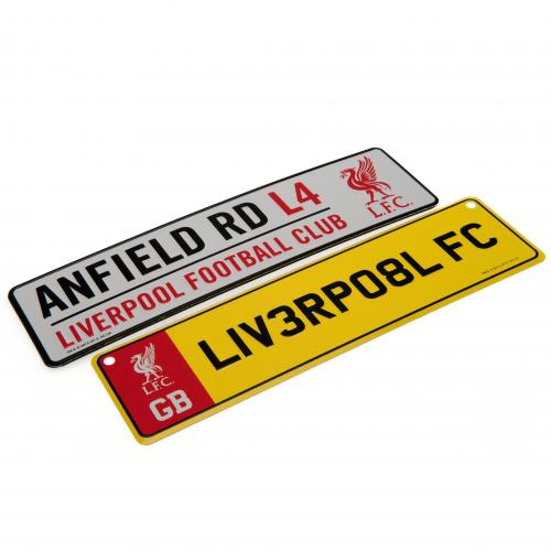 Liverpool F.C. Window & Fridge Sign Set