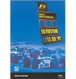 F1 Memorabilia British GP Official Race Card 1997