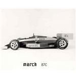 F1 Memorabilia March 87C Photo - Side Profile