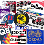 F1 Memorabilia Stickers F1 & Motorsport Mixed Pack of 8