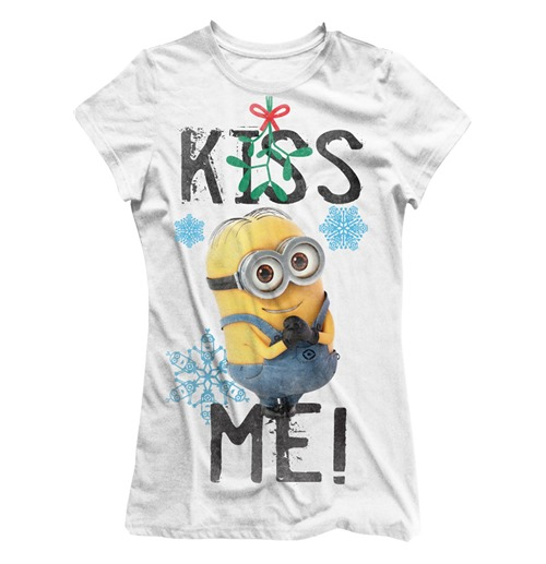 Despicable Me 2 Ladies T-Shirt Kiss Me