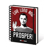 The Big Bang Theory Notebook A5 Live Long And Prosper