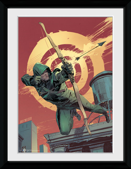 Arrow Comic Red Framed Collector Print