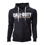 CALL OF DUTY Advanced Warfare Medium Full Length Zipper Hoodie with Horizontal Logo, Black
