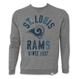 NFL ST. LOUIS RAMS Grey Junk Food Crewneck Sweatshirt