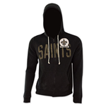 NFL NEW ORLEANS SAINTS Junk Food Black Hooded Sweatshirt