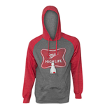MILLER High Life Men's Raglan Sleeve Beer Pouch Hooded Sweatshirt