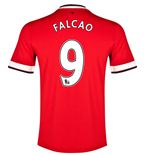 2014-15 Manchester United Home Shirt (Falcao 9) - Kids