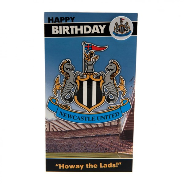 Newcastle United F.C. Birthday Card and Badge