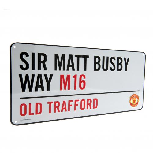 Manchester United F.C. Street Sign
