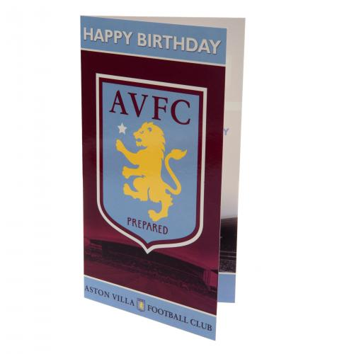Aston Villa F.C. Crested Birthday Card