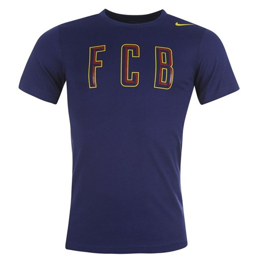 2014-2015 Barcelona Nike Core Plus Tee (Navy)
