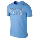 2014-2015 Man City Nike Core Pulse Tee (Blue)