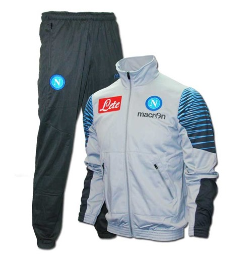 Napoli Official Tracksuit Light Grey Player 2014 2015 Kids Cw5qxWa