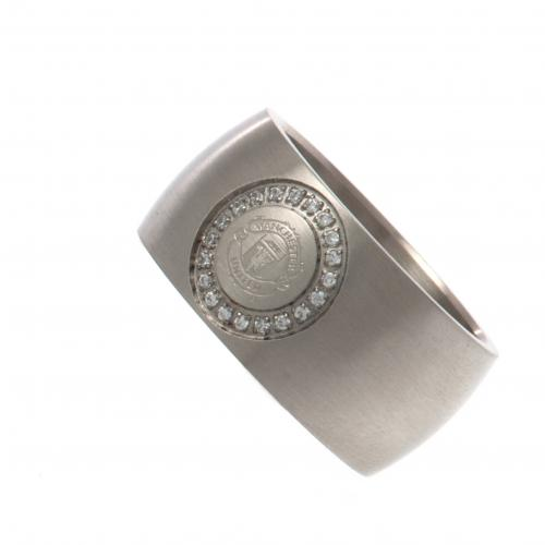 Manchester United F.C. Stone Set Ring Medium