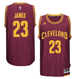 Men's Cleveland Cavaliers LeBron James adidas Garnet New Swingman Road Jersey