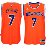 Men's New York Knicks Carmelo Anthony adidas Orange New Swingman Alternate Jersey