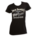 Jack Daniel's Special Edition Women's White Rabbit Saloon T-Shirt