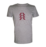 DESTINY Red Hunter Logo Extra Large T-Shirt, Melange Silver