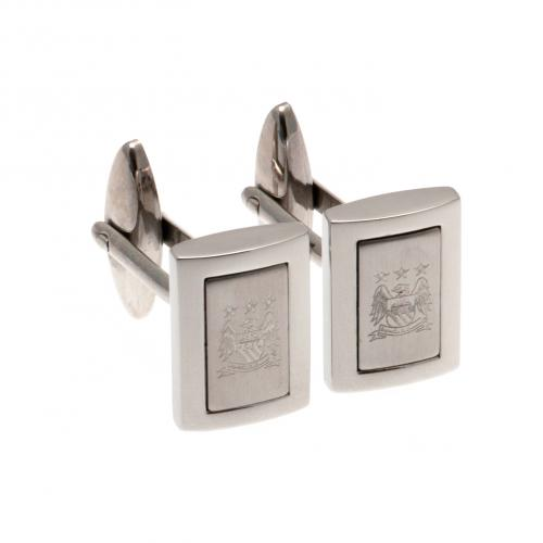 Manchester City F.C. Stainless Steel Framed Cufflinks